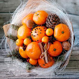 Букет мандаринов с пряностями